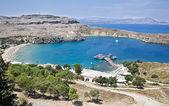 Mediterranean landscape, Rhodes, Greece — Stock Photo