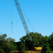 Crawler-mounted Latticework BoomCrane — Stock Photo