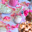 Wedding Reception Candy Table in High Dynamic Range — Stock Photo