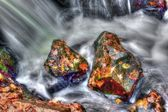 Smooth Water in HDR High Dynamic Range — Стоковое фото
