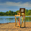 Lifeguard Chair in High Dynamic Range — Stock Photo