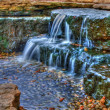 Beautiful cascading waterfall in High Dynamic Range — Stock Photo