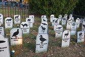 Animal Extinction grave site — Stock Photo
