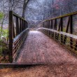 Stock Photo: Creek and Bridge in HDR