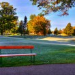 Fall Colors at the Golf Course. — Stock Photo