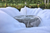 Water Fountain building suds in HDR — Stock Photo