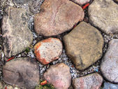 Garden stone in hdr — Stock Photo