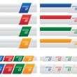 Set of Colourful Option Labels and Tabs Template - Imagen vectorial