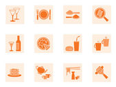 Collection of food and beverage icons — Stock Vector