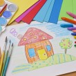 Child's drawing — Stockfoto