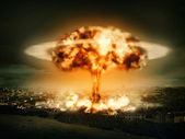 Explosão de bomba nuclear — Foto Stock