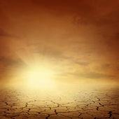 Arrière-plan de paysage désertique — Photo