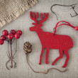 Stock Photo: Red christmas deer