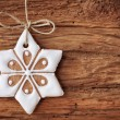 Gingerbread snowflake — Stock Photo #12520576