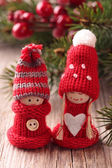 Two little santa decoration — Photo