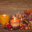 Autumn candle — Stock Photo #12843556