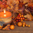Autumn candle — Stock Photo #12852415