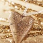 Golden christmas heart — Stock Photo #13254421