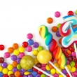 Mixed colorful sweets — Stock Photo