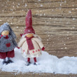 Two little santa decoration — Stok fotoğraf