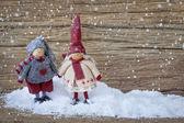 Deux petite décoration de santa — Photo
