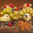 Fruit hedgehogs — Stock Photo