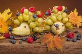 Fruit hedgehogs — Stock Photo