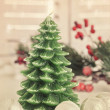 Christmas tree candle — Stock Photo