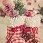 Christmas boots — Stock Photo