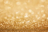 Golden glitter christmas background — Foto Stock
