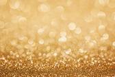 Zlaté třpytky vánoční pozadí — Stock fotografie