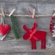 Wooden christmas deer — Stock Photo #14921873