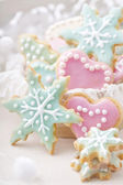 Pastel colored cookies — Stock Photo