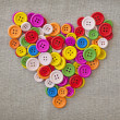 Colorful buttons heart — Stock Photo #15347341