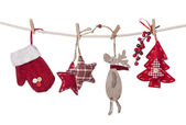 Christmas decorations hanging — Stock Photo