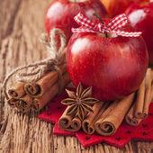 Maçãs de inverno vermelho — Foto Stock