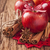 Red winter apples — Stock Photo