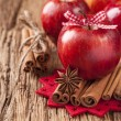 Red winter apples — Stock Photo #16308285