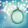 Transparent christmas ball — Stock Photo
