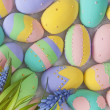 Stock Photo: Easter pastel colored eggs