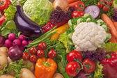 Variedade de legumes frescos — Foto Stock
