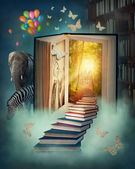 Upstairs to the magic land — Stock Photo