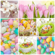 Colorful easter collage — Stock Photo