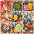 Colorful easter collage — Stock Photo #22874210