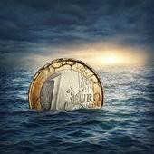 Euro crisis concept — Stock Photo