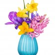 Colorful spring flowers in a vase — Stock Photo