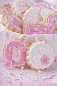 Baby girl cookies — Stock Photo