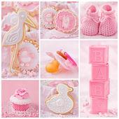 Collage de bebé niña — Foto de Stock