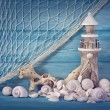 Marine life decoration — Stock Photo