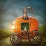 Pumpkin carriage — Stock Photo